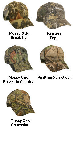 Camo Mesh Back Cap with Snap Closure in 6 Colors - All Colors