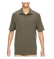 Mens Excursion Crosscheck Performance Woven Polo