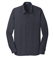 Custom Mens Dimension Knit  Moisture Wicking Dress Shirt