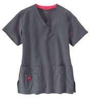 Custom Carhartt Medical Womens V-Neck Media Scrub Top