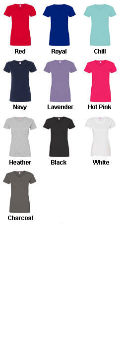 Ladies Fine Jersey V-Neck T-Shirt - All Colors