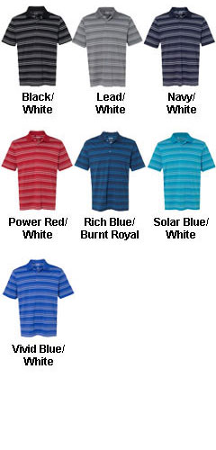 Adidas Golf Puremotion® Textured Stripe Polo - All Colors