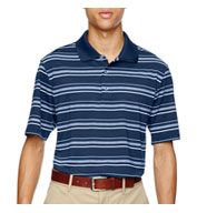 Adidas Golf Puremotion® Textured Stripe Polo