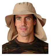 Custom Extreme Vacationer Bucket Cap with Neck Cape