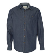 Custom Weatherproof® Vintage Mens  Denim Long Sleeve Shirt