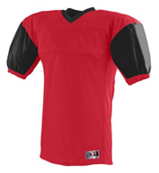 Custom Red Zone Football Jersey with Contrast Sleeves Mens