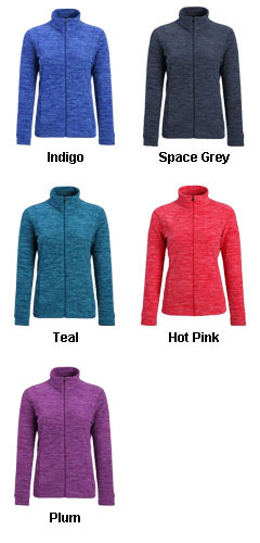 Cascade Ladies Marled Fleece Jacket - All Colors