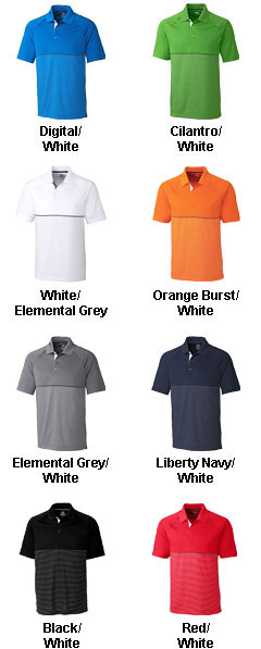 Mens CB DryTec� Junction Stripe Hybrid Polo - All Colors