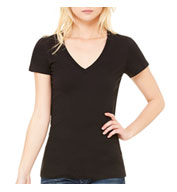 Ladies Made in the USA Deep V-Neck T-Shirt