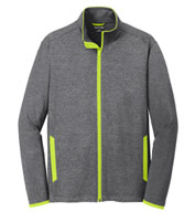 Mens Sport-Tek Stretch Contrast Full-Zip Jacket