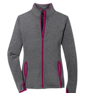 Ladies Sport-Tek Stretch Contrast Full-Zip Jacket