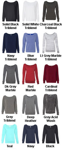 Bella Ladies Sponge Fleece Wide Neck  Sweatshirt - All Colors