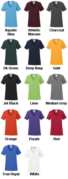 Ladies Essential Blended Performance V-Neck Tee - All Colors