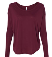 Bella Ladies Flowy Long-Sleeve Tee with 2x1 Sleeves