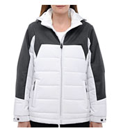 North End® Ladies Excursion Meridian Insulated Jacket with Melange Print
