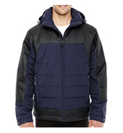 Custom North End® Mens Excursion Meridian Insulated Jacket with Melange Print