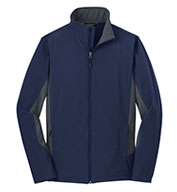 Custom Adult Core Colorblock Soft Shell Jacket Mens