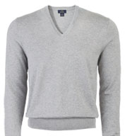 Brooks Brother 346 Mens Cotton V-Neck Sweater