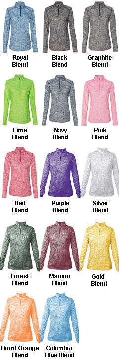 Ladies Blend 1/4 Zip  Pullover - All Colors
