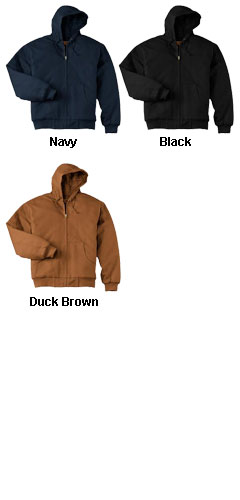Duck Cloth Hooded Work Jacket - All Colors