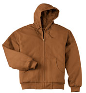 Custom Duck Cloth Hooded Work Jacket in Tall Sizes
