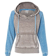 Custom Ladies Zen Contrast Pullover Hooded Fleece