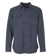 Burnside Solid Long Sleeve Flannel Shirt