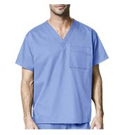 Unisex V-Neck Scrub Top by WonderWink®