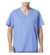 Custom Mens Multi-Pocket Scrub Top from WonderWink®