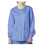 Unisex Snap Scrub Jacket by WonderWink®
