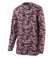 Custom Digi Camo Wicking Long Sleeve T-Shirt