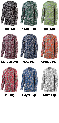 Youth Digi Camo Wicking Long Sleeve  - All Colors