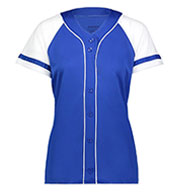 Custom Ladies Faux Full Button Winner Jersey