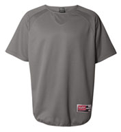 Rawlings Short Sleeve Flatback Mesh Fleece Pullover