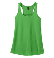 Custom Ladies Solid Gathered Racerback Tank