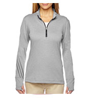 Custom Adidas Golf Ladies Brushed Terry Heather Quarter-Zip