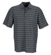 Greg Norman Play Dry Performance Striped Mesh Polo