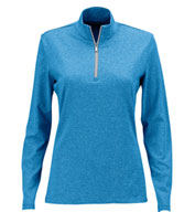 Greg Norman Womens Heathered 1/2-Zip