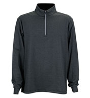 Greg Norman Heathered Stripe 1/4-Zip Pullover