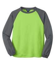 Custom Sport-Tek® Youth Raglan Colorblock Fleece Crewneck