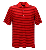Greg Norman Play Dry Aerated Weatherknit Stripe Polo