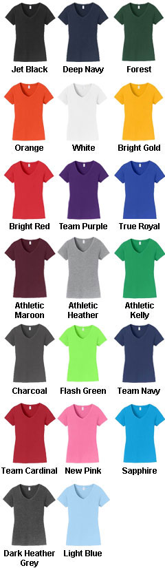Ladies Fan Favorite V-Neck Tee  - All Colors