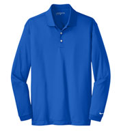 Custom Nike Golf Tall Long Sleeve Dri-Fit Stretch Tech Polo
