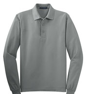 Custom Tall Silk Touch™ Long Sleeve Polo