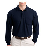 Tall Silk Touch™ Long Sleeve Polo With Pocket