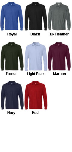 Gildan DryBlend Double Pique Long Sleeve Sport Shirt - All Colors