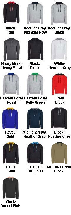 Next Level Unisex French Terry Pullover Hoody - All Colors
