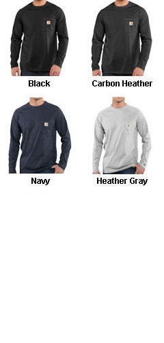 Carhartt Force Cotton Delmont Long Sleeve T-Shirt - All Colors