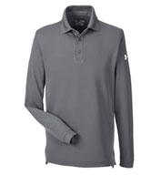 Custom Mens Under Armour Performance Long Sleeve Polo