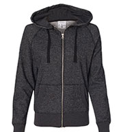 Glitter Hooded Full-Zip Sweatshirt